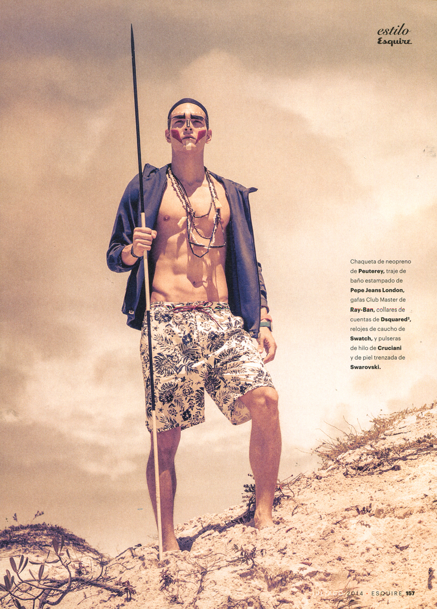Alexandre Cunha in Esquire Spain; Photo: Alfonso Ohnur
