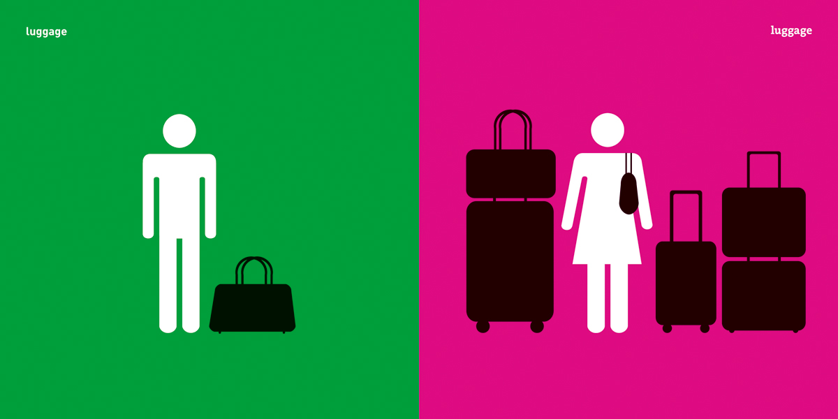 Yang Liu: Man Meets Woman; Luggage