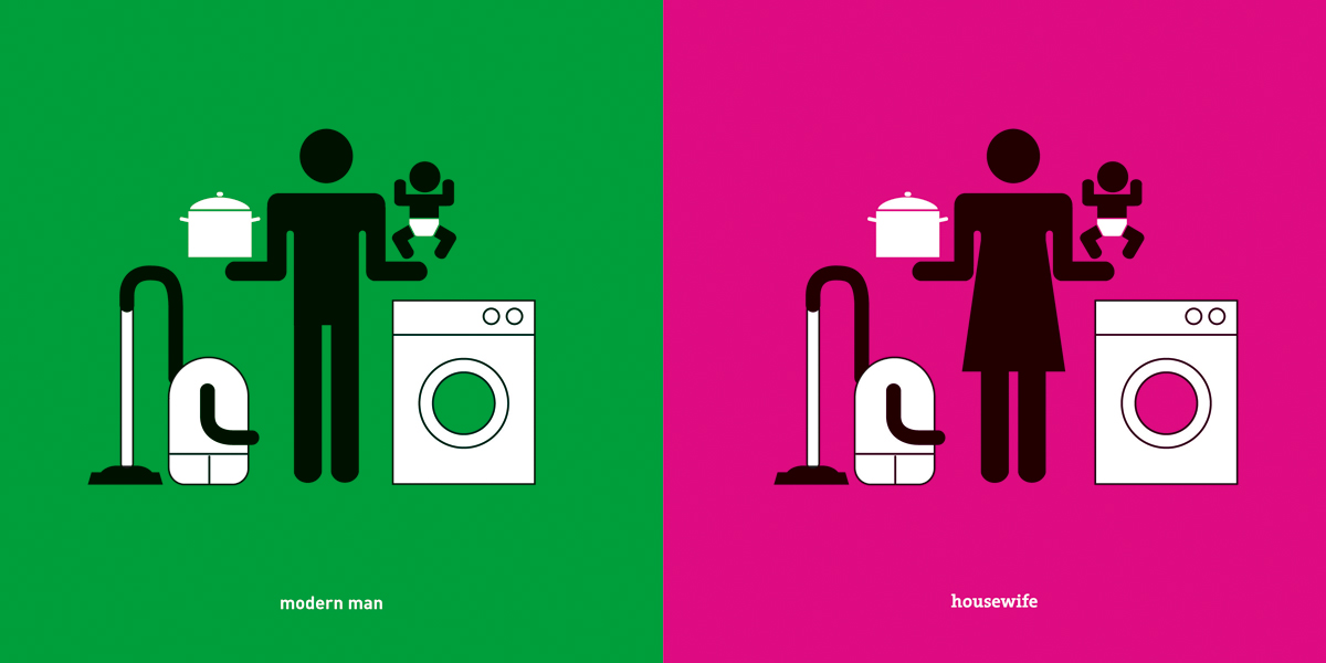 Yang Liu: Man Meets Woman;  	Modern Man/Housewife