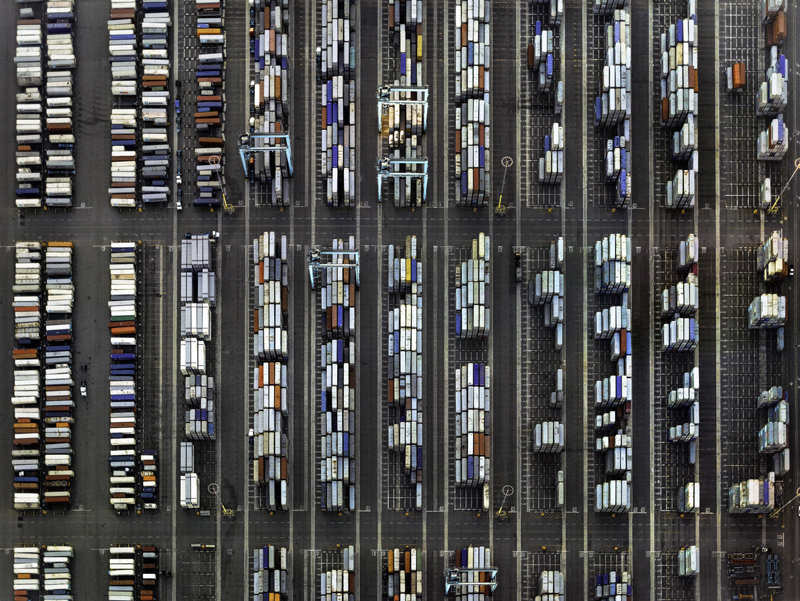 Aerials of Container Ports, photography