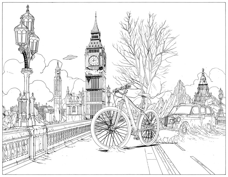 10 - Bicycle Coloring Book