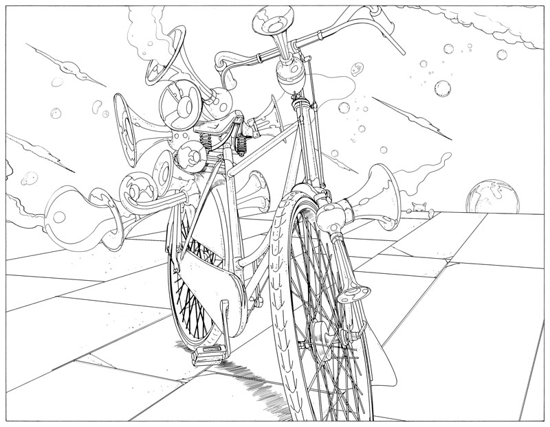 11 - Bicycle Coloring Book
