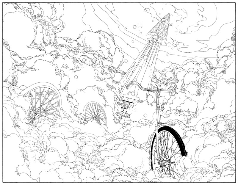 12 - Bicycle Coloring Book