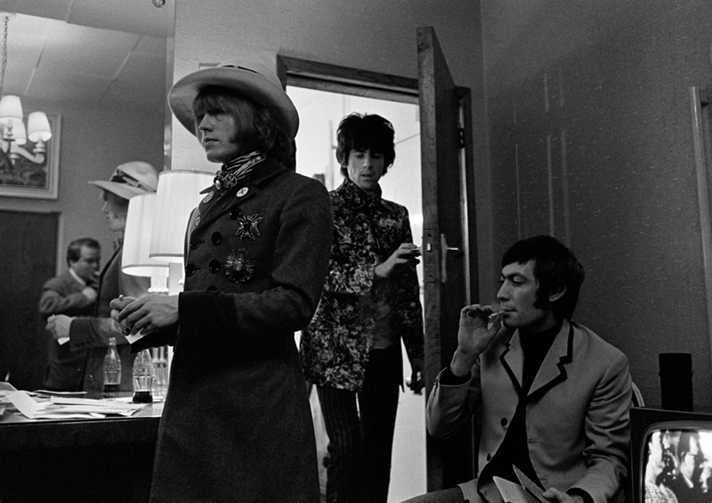 Brian Jones, Keith Richards & Charlie Watts backstage London Pal