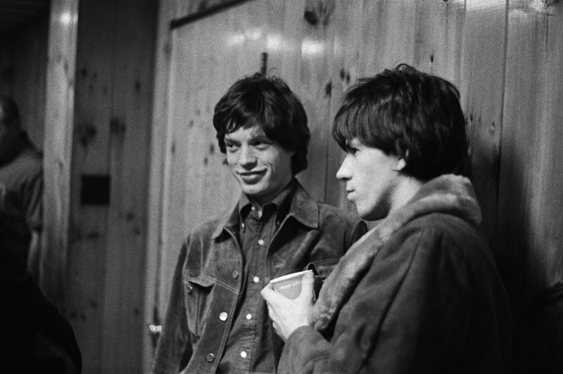 Mick Jagger & Keith Richards backstage USA 1965