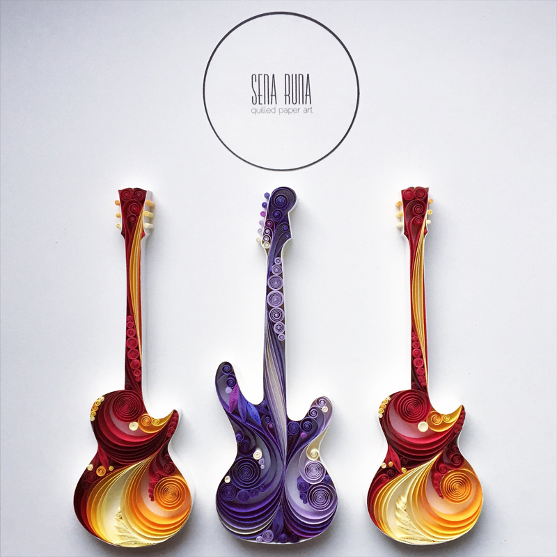guitar designs art