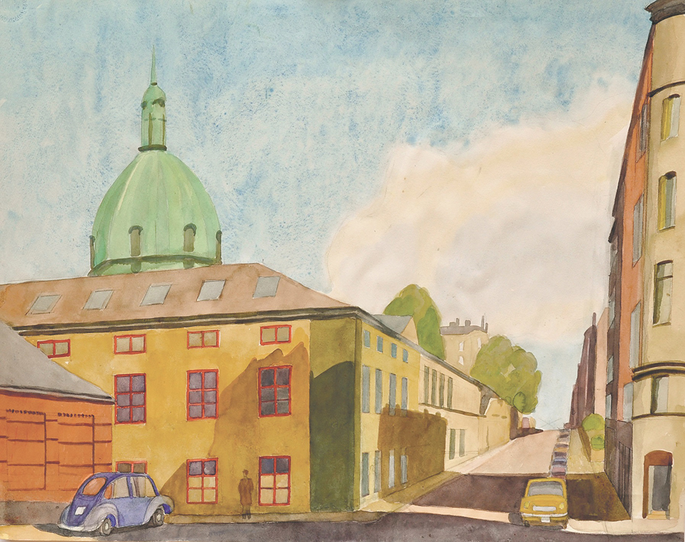 8. Josef Frank, Artillerigatan-Stockholm, Watercolour between 1953-67 ©Anna Sievert