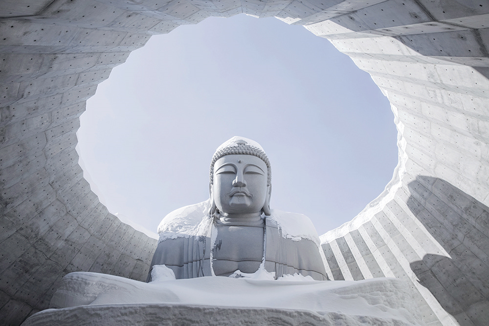 The Hill of the Buddha in the Snow
